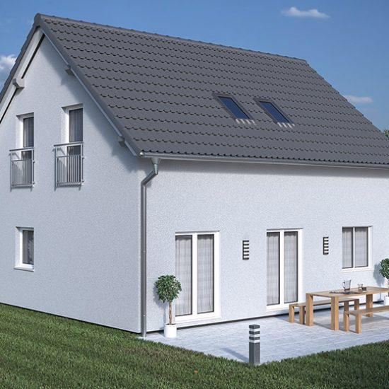 3D_Architekturvisualisierung_Außenansicht_Einfamilienhaus_sonnig