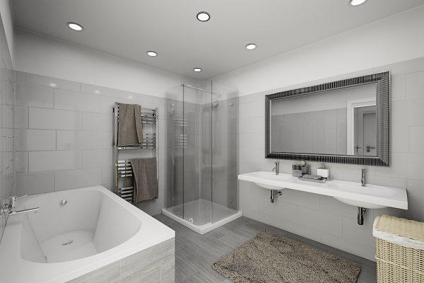 Architekturvisualisierung - Innenraum - Adalbert Kubicek GmbH - Lammaschgasse - Badezimmer