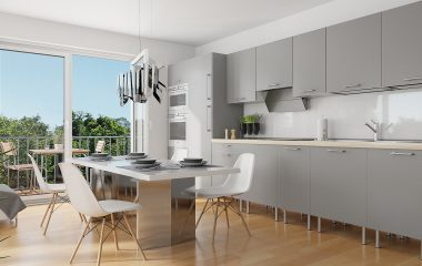 Architekturvisualisierung - Innenraum - Adalbert Kubicek GmbH - Lammaschgasse - Küche