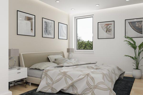 Architekturvisualisierung - Innenraum - Adalbert Kubicek GmbH - Lammaschgasse - Schlafzimmer